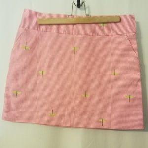 J. Crew Skirt Pink Dragonfly Skirt SZ 8